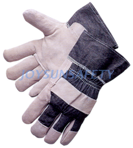 CBA309 economic leather palm work gloves