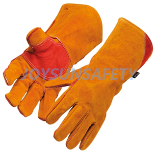 WCBY07 brown welding leather gloves double palm